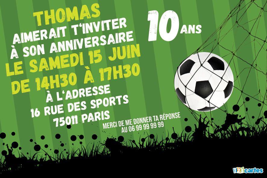invitation anniversaire 10 ans passion