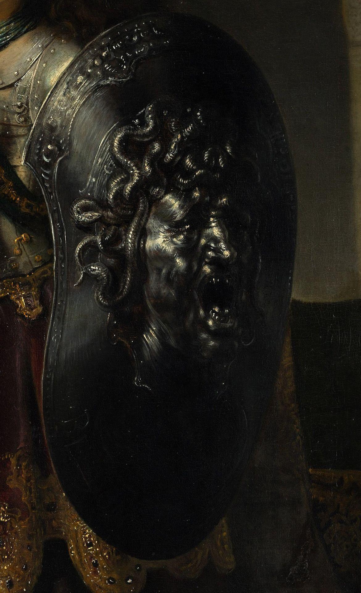 Bellona (detail), Rembrandt, 1633