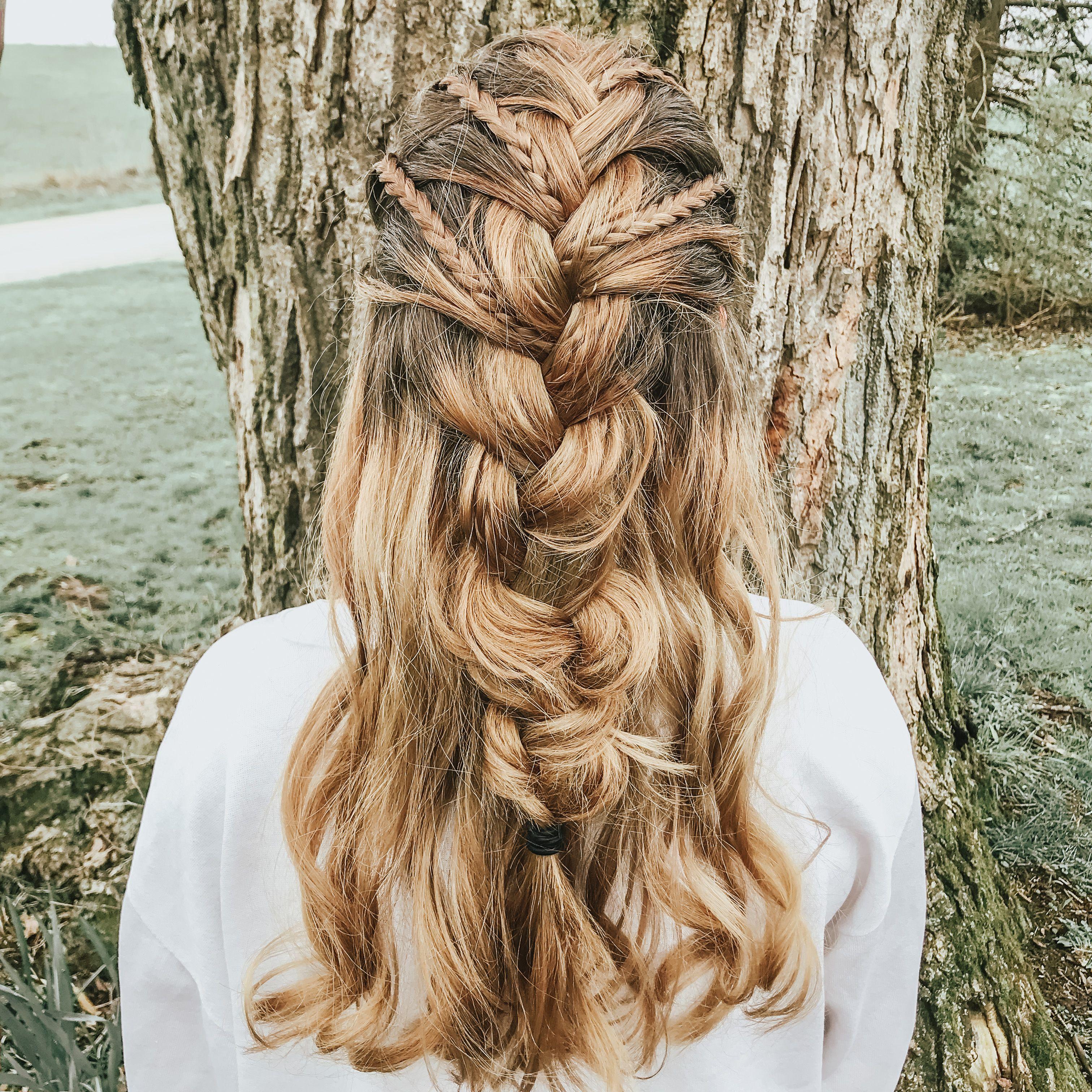 Braided Hairstyle Braided Hairstyles Half Up Hair Hair Styles