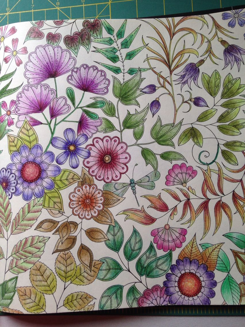 Secret garden adult coloring book pinterest gardens johanna basford and coloring books for Secret garden adult coloring book