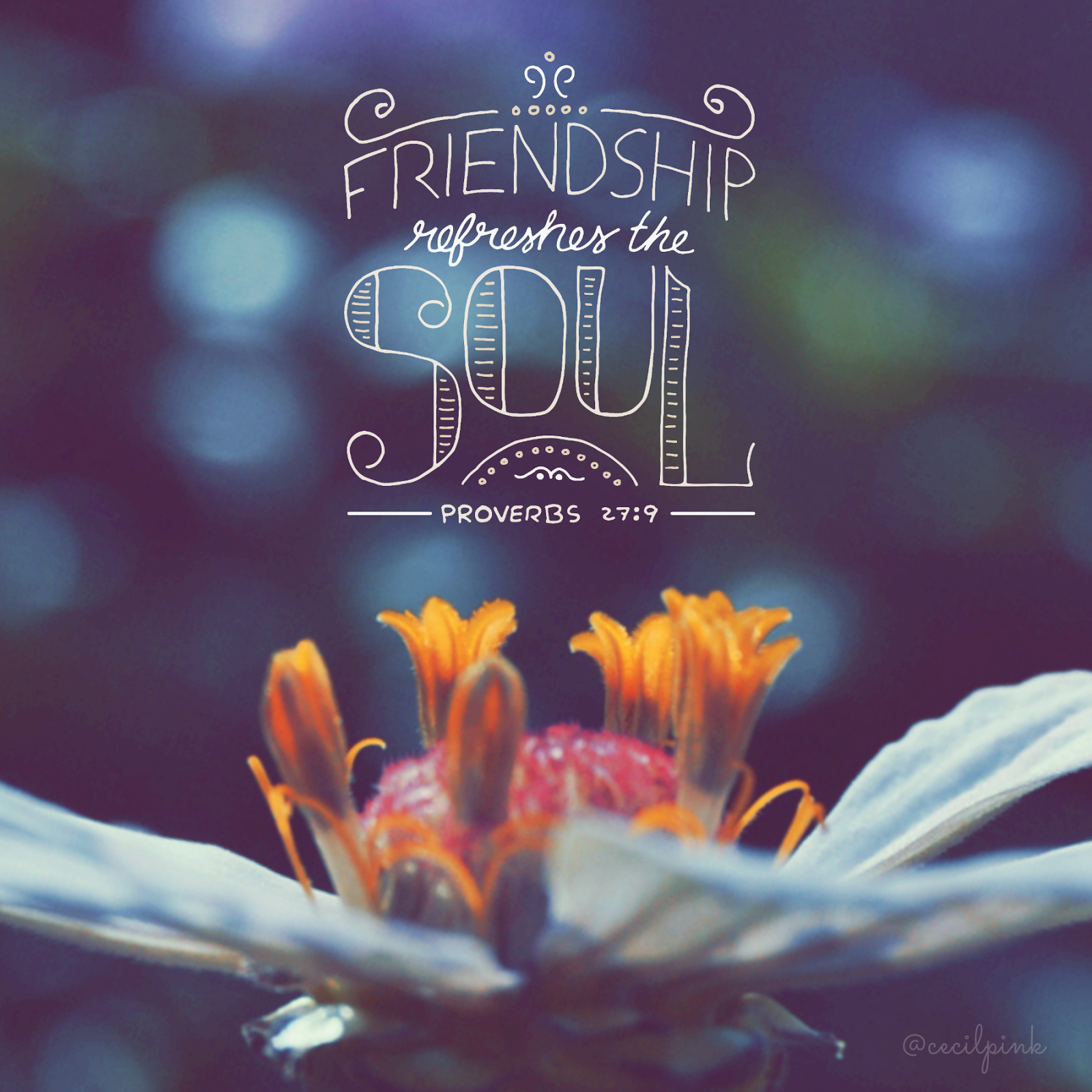 Friendship Quotes Religious: Friendship Refreshes The Soul. Proverbs 27:9