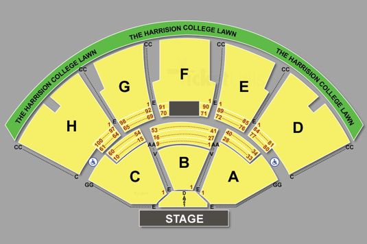 Klipsch Music Center Seating Chart Music Centers Seating Charts Music