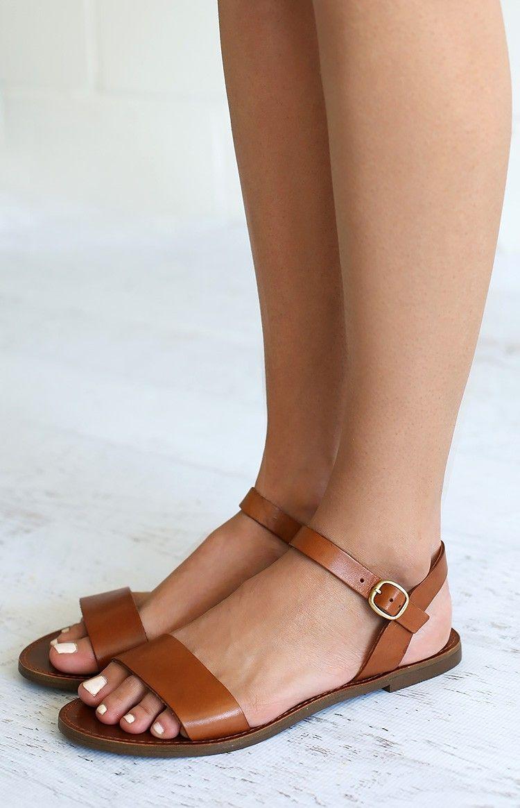 Windsor Smith Bondi Sandals Tan Leather