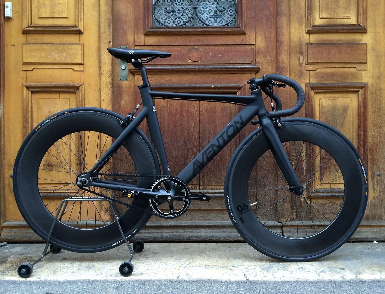 Aventon Mataro Matte Black Fixed Gear Bike Fixed Bike Speed