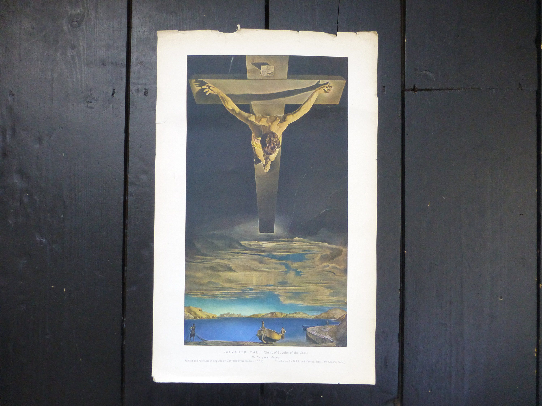 Salvador Dali /'Christ of Saint John of the Cross/' Art Print Poster Framed NEW
