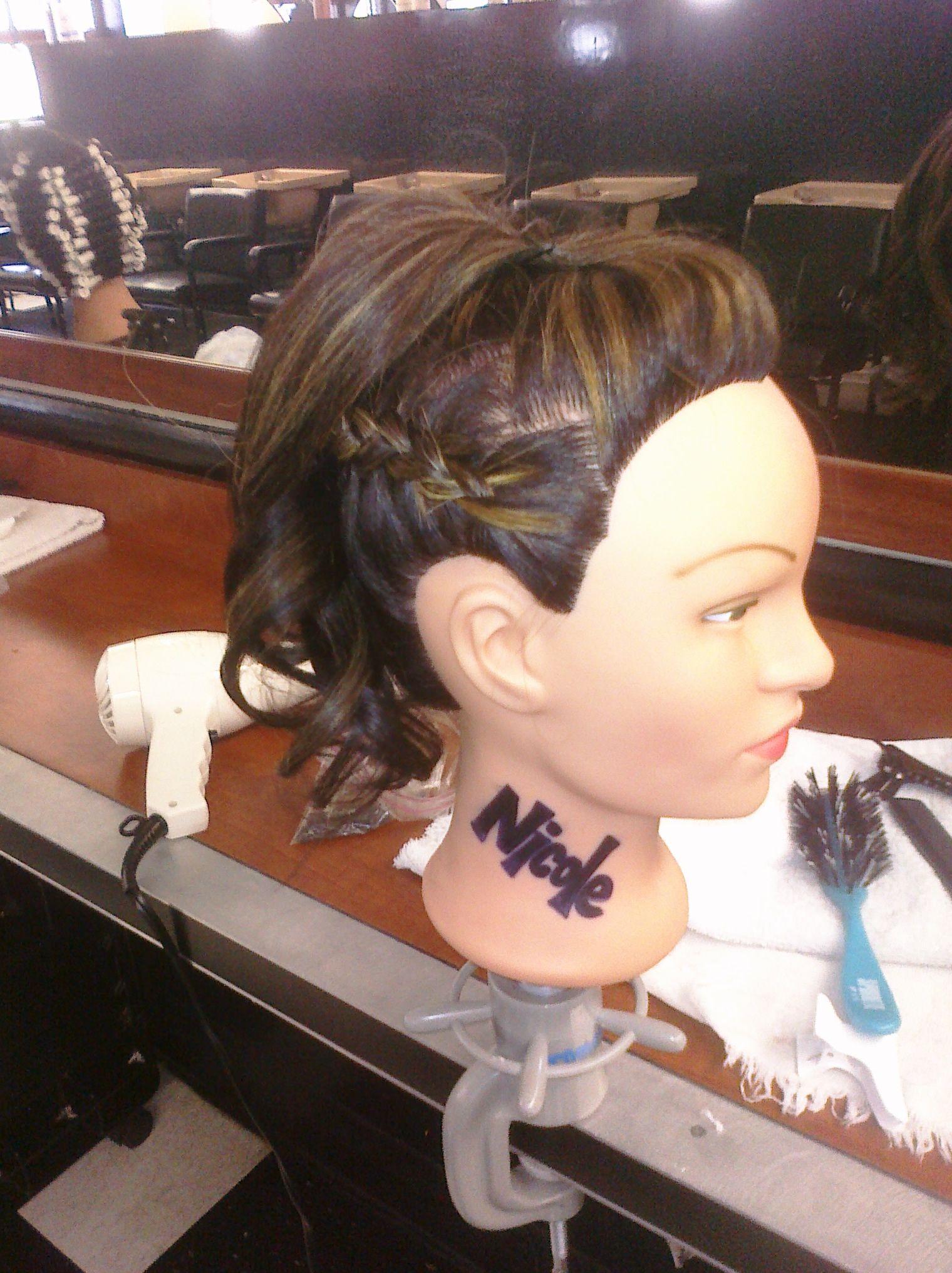 hair nicole. zig zag side part