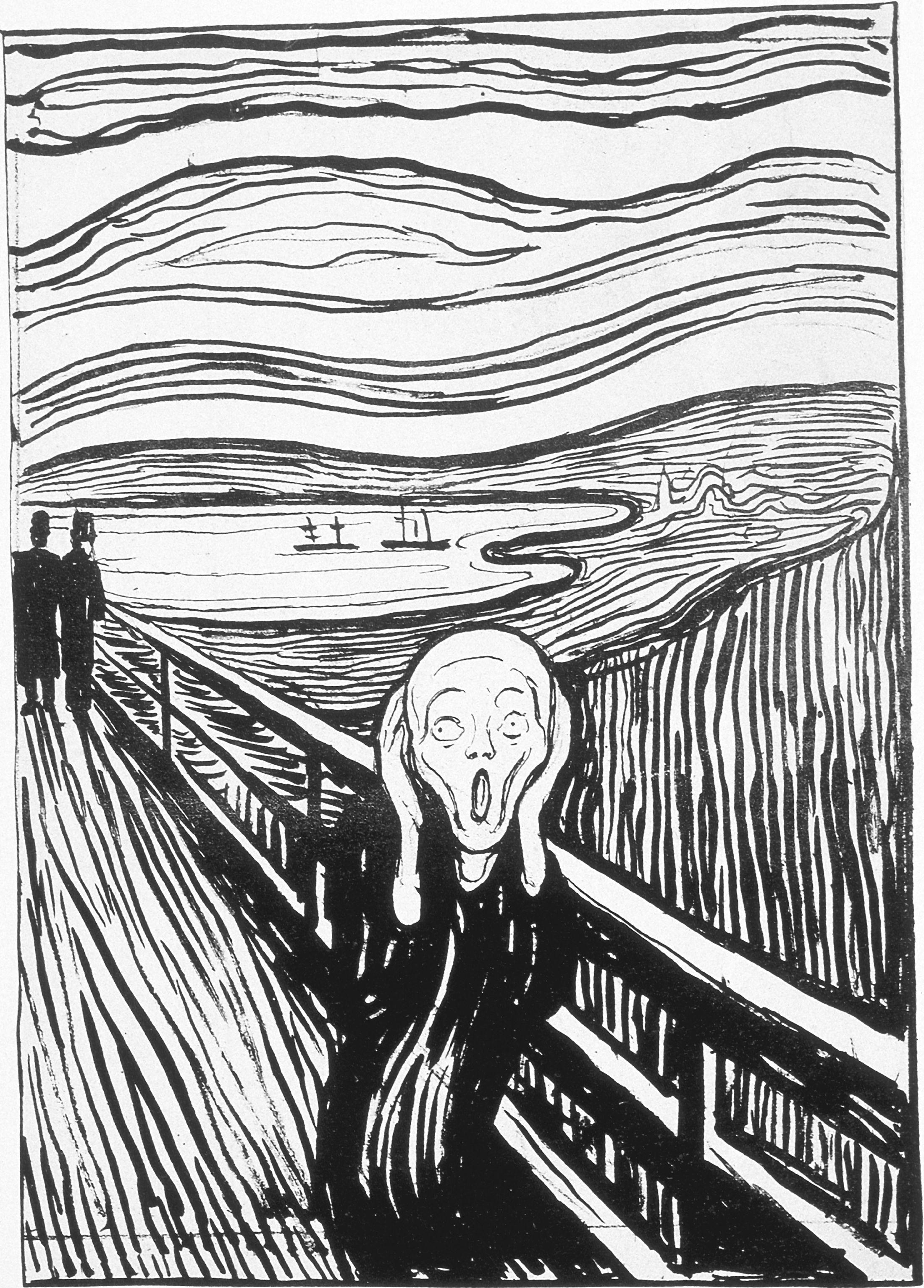 The Scream | Le cri, Le cri munch et Linogravure