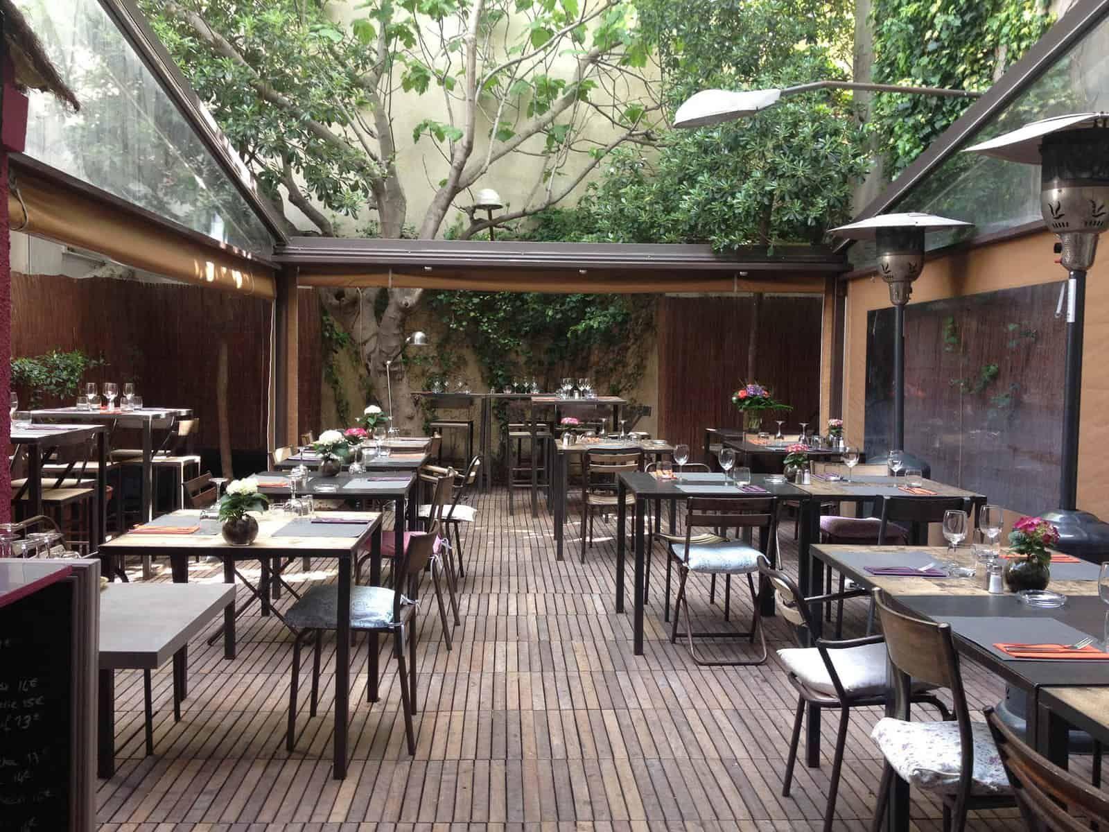 Blonde Brune Restaurant Patio Restaurant Marseille Patio Marseille