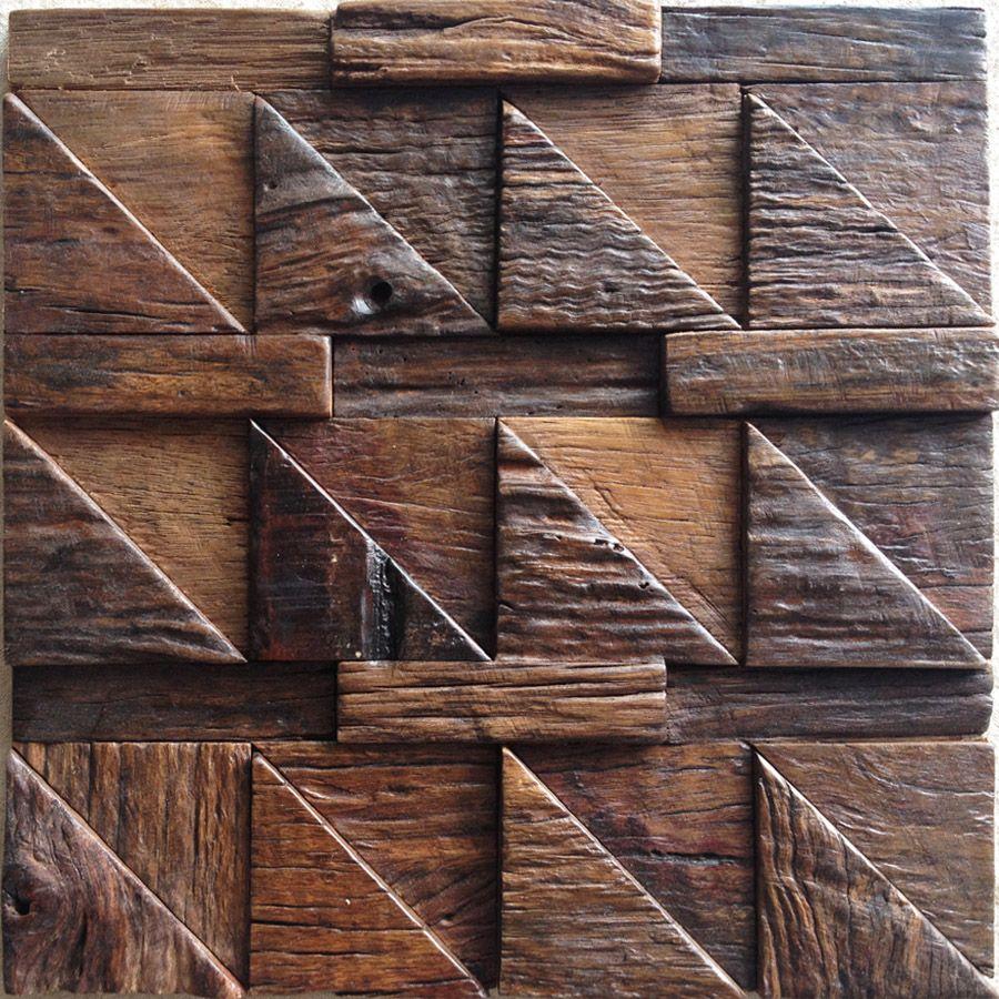 Decorative Wood Wall Tiles Mosaic Decoration Backsplash Ship Wood Mosaics Panel Tiles For