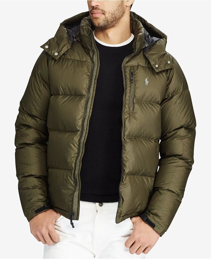 0d2e1e8d Polo Ralph Lauren Men's Water-Repellent Down Jacket, Created for Macy's