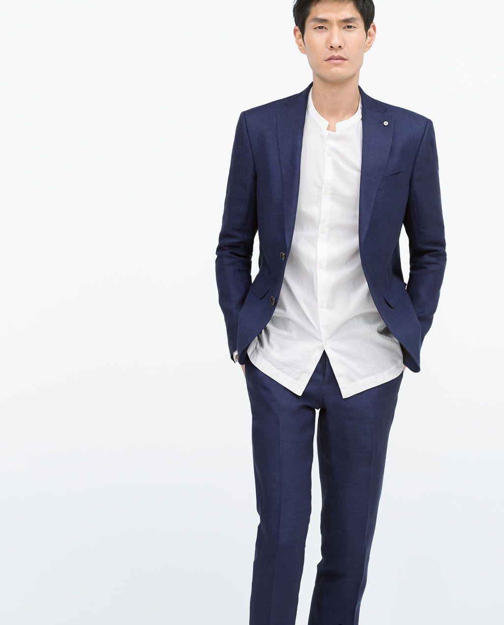 Linen Suit Suits Man Zara United States