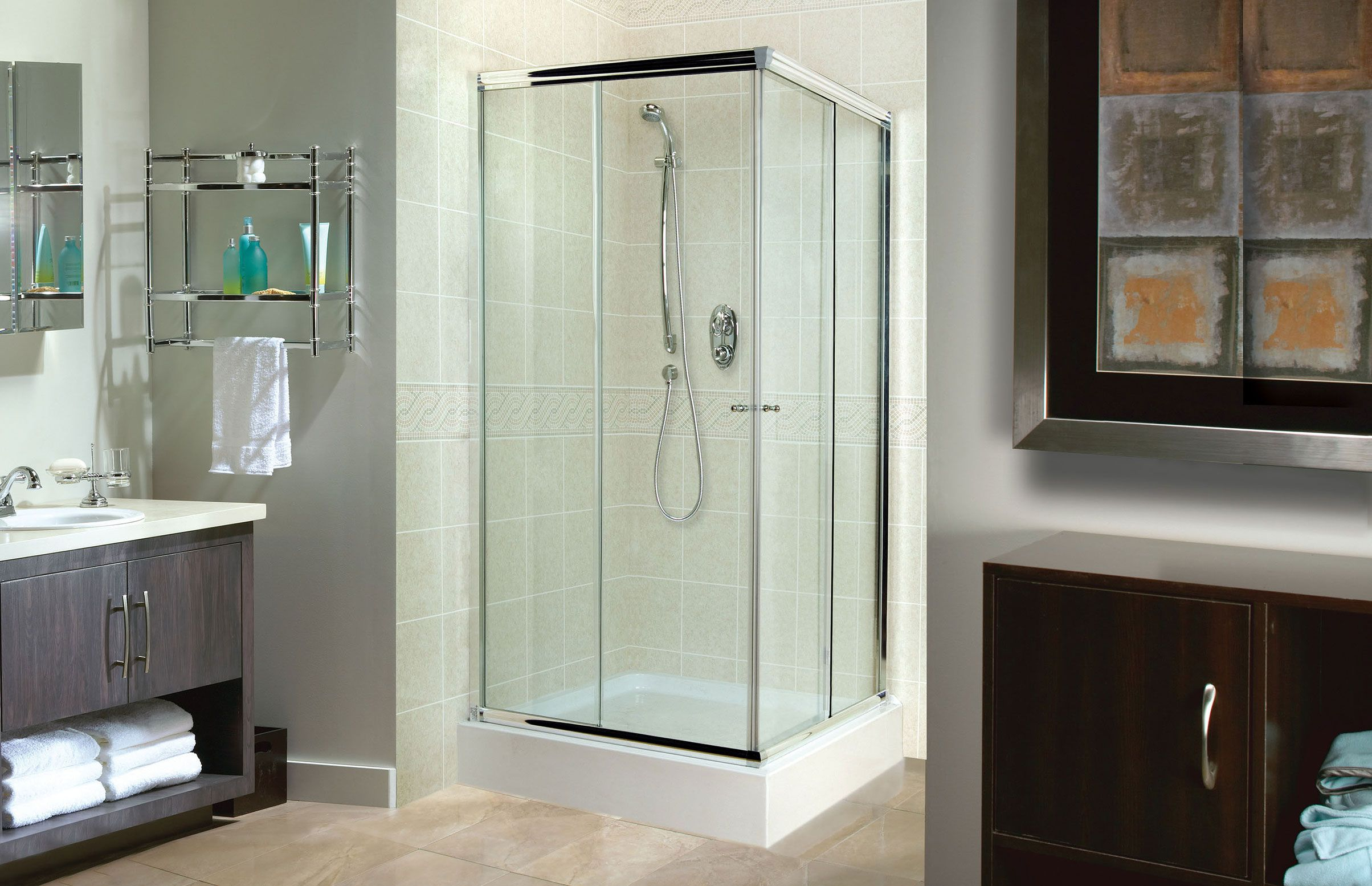 Tigris Square Corner or Glass enclosures shower - Advanta by MAAX ...