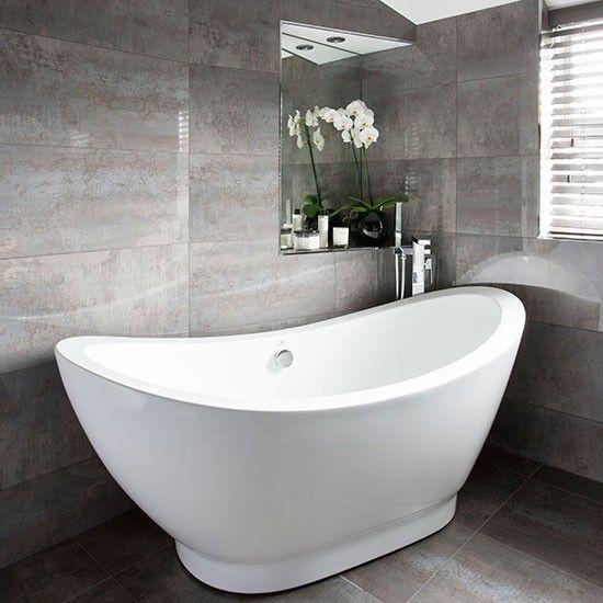 dunkelgrau gefliestes badezimmer wohnideen badezimmer living ideas ... - Wohnideen Small Bathroom