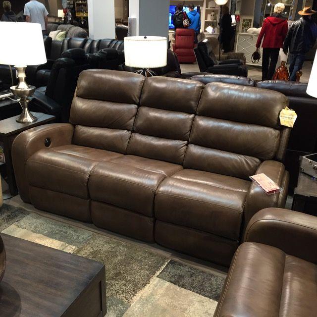 Flexsteel power recliner sofa - style Elliot, color Truffle