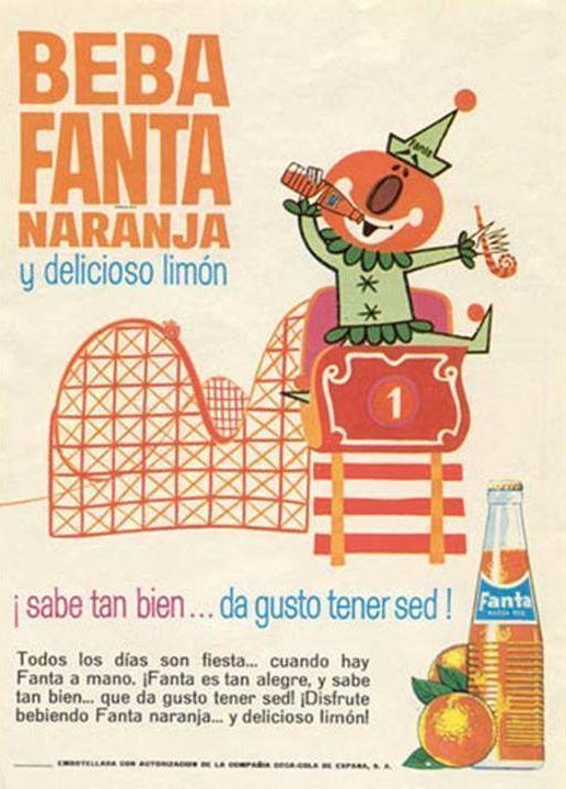Cartel de fanta carteles publicitarios antiguos - Carteles publicitarios antiguos ...