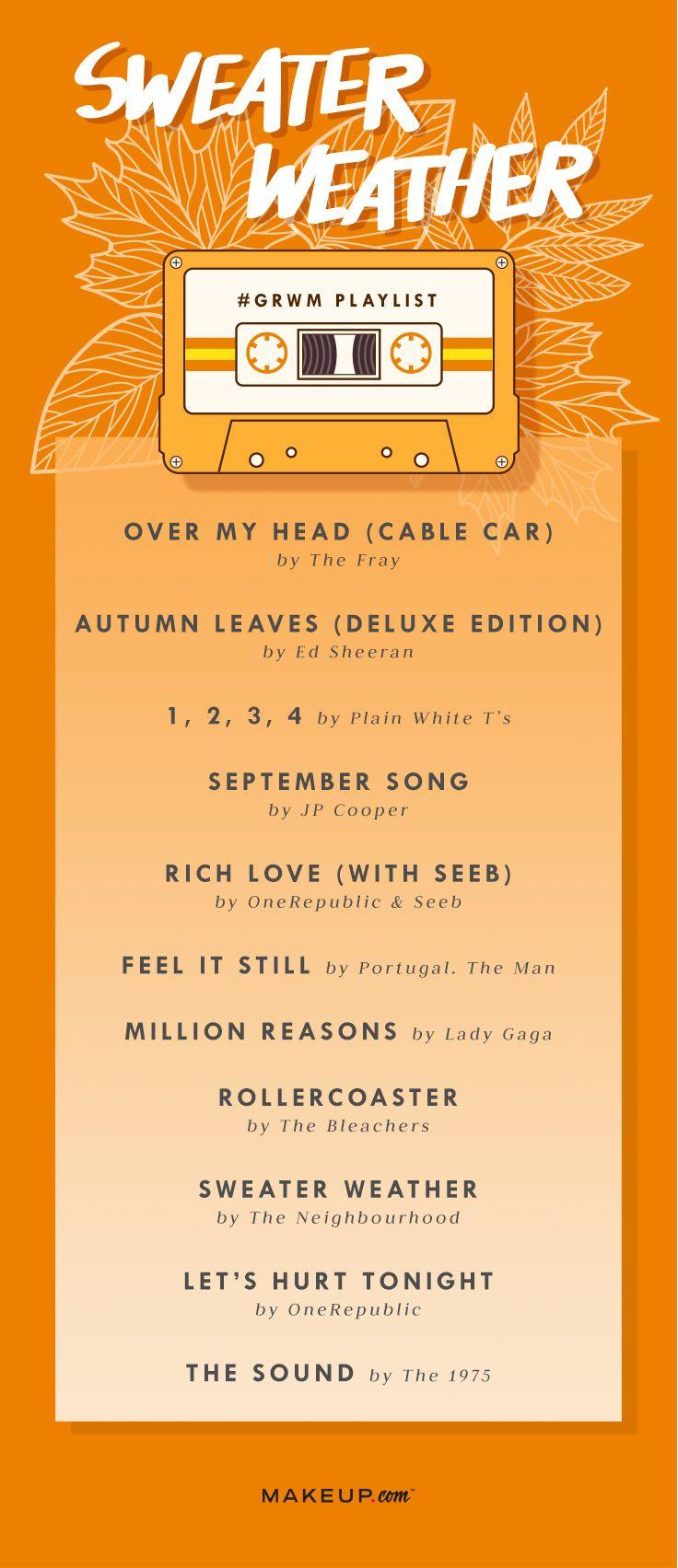 Grwm Sweater Weather Spotify Playlist Happy Songs Playlist Fall Music Music Playlist David guetta light my body up feat nicki minaj & lil wayne. grwm sweater weather spotify playlist