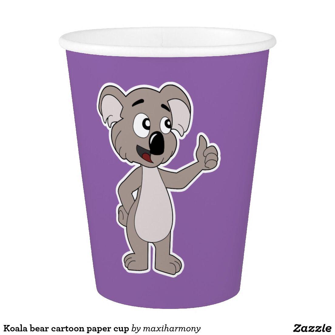 Koala bear cartoon paper cup