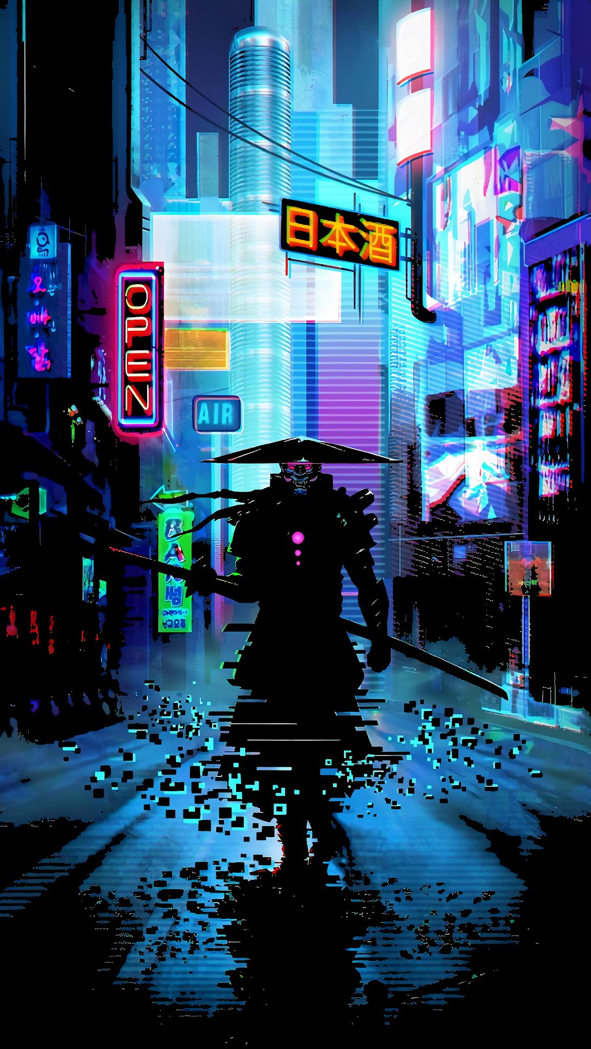 Cyber Samurai Mobile Wallpaperr Samurai Wallpaper Futuristic Samurai Cyberpunk Aesthetic