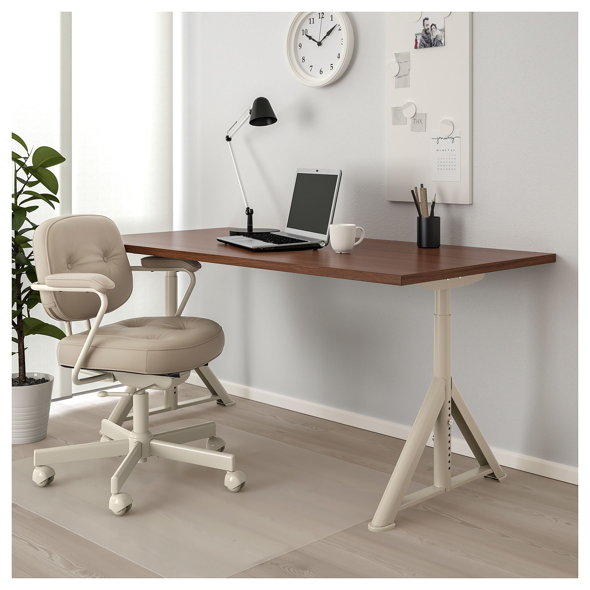 Idasen Desk Brown Beige Shop Here Ikea Cheap Office Furniture Desk Ikea