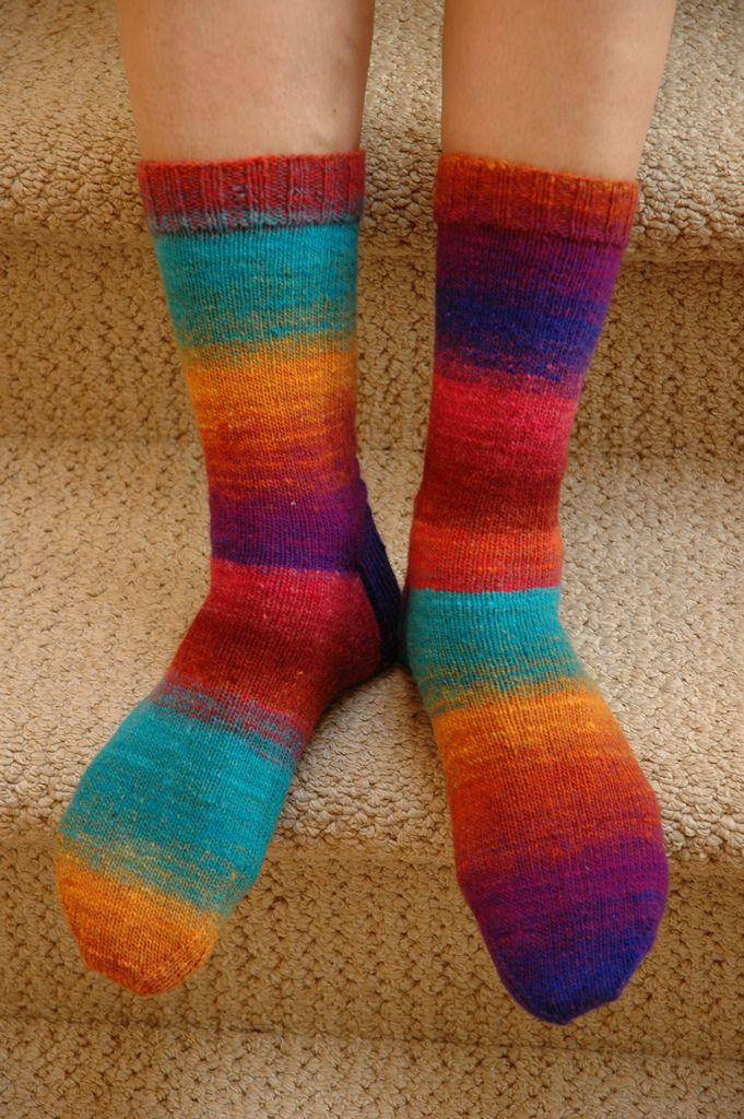 """Ravelry: yarnRx's Simple socks #6: """"Neon Noros"""""""