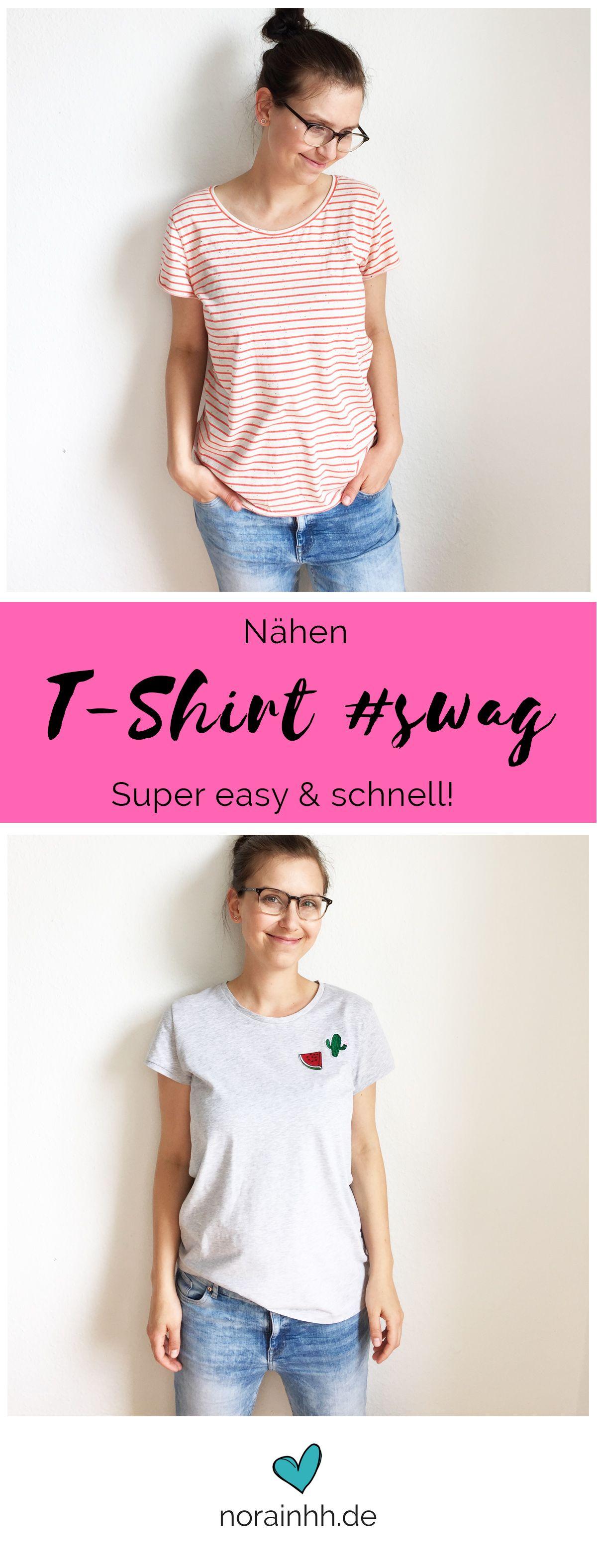 Tshirt Schnittmuster #swag | Selbst genäht, Sommer und Schnittmuster