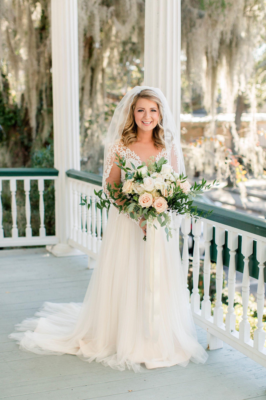 Southern Bridal Style South Carolina Bride Bridal Veil Lace Long Sleeve Wedding Dress Bouq Long Sleeve Wedding Dress Lace Wedding Wedding Dress Long Sleeve