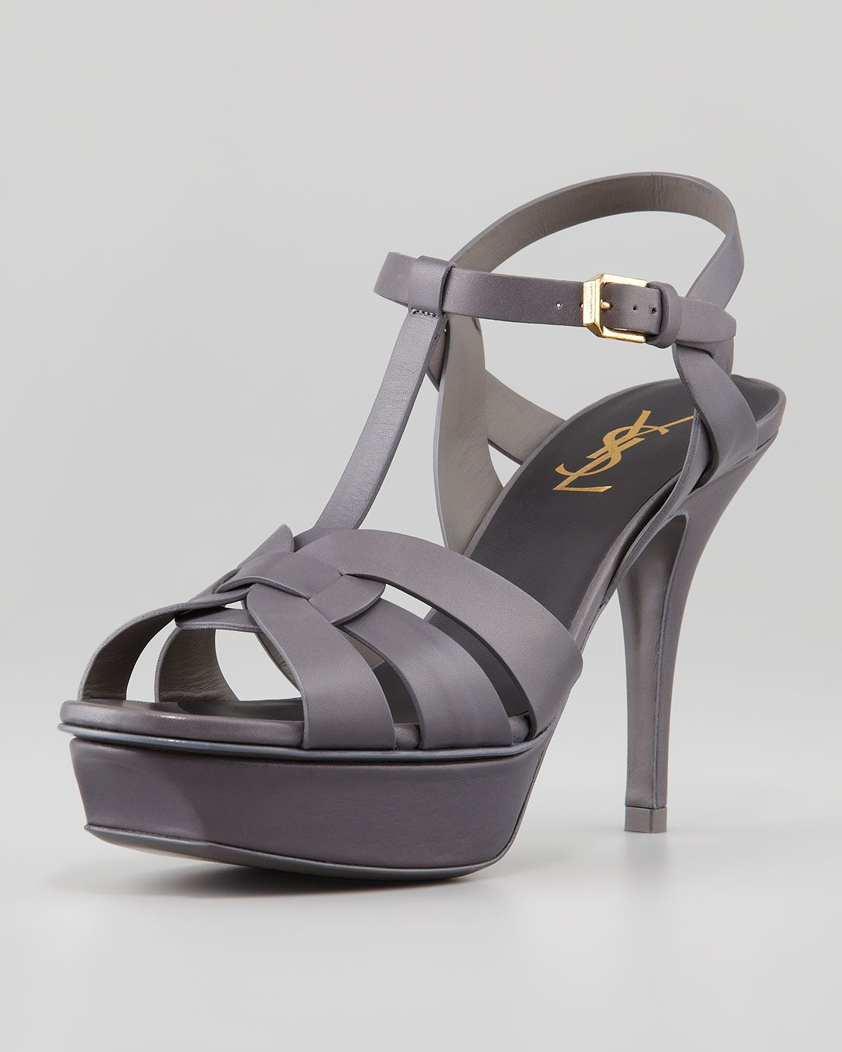 a72189365efa Yves Saint Laurent Tribute Low-Heel Platform Sandal