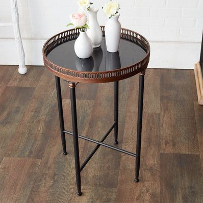 Best Black And Gold Round Accent Table Round Accent Table 400 x 300