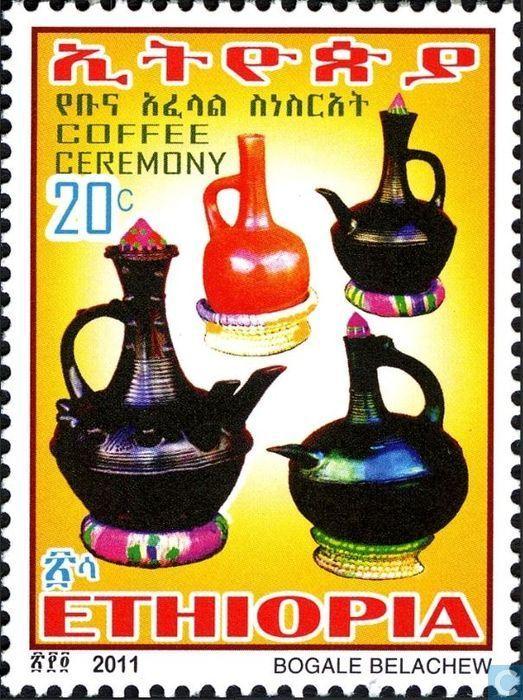 Postage Stamps Ethiopia Coffee Ceremony Pul