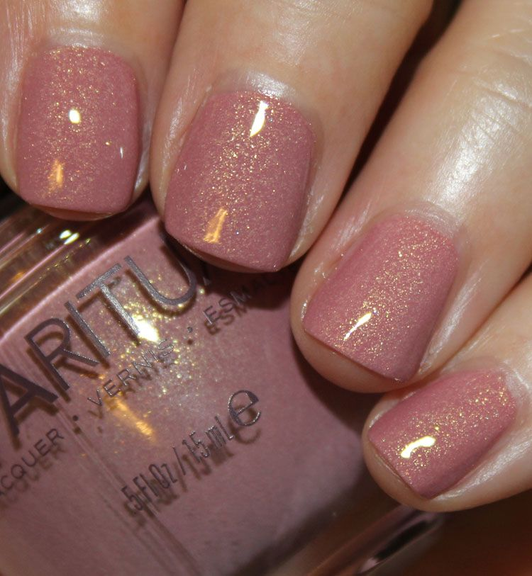 Arroyo is a dusty mauve/pink with golden shimmer | Nails | Pinterest ...