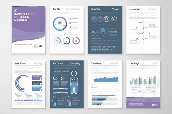 Infographic Brochure Elements 6 by Infographic Template Shop on - product comparison template word