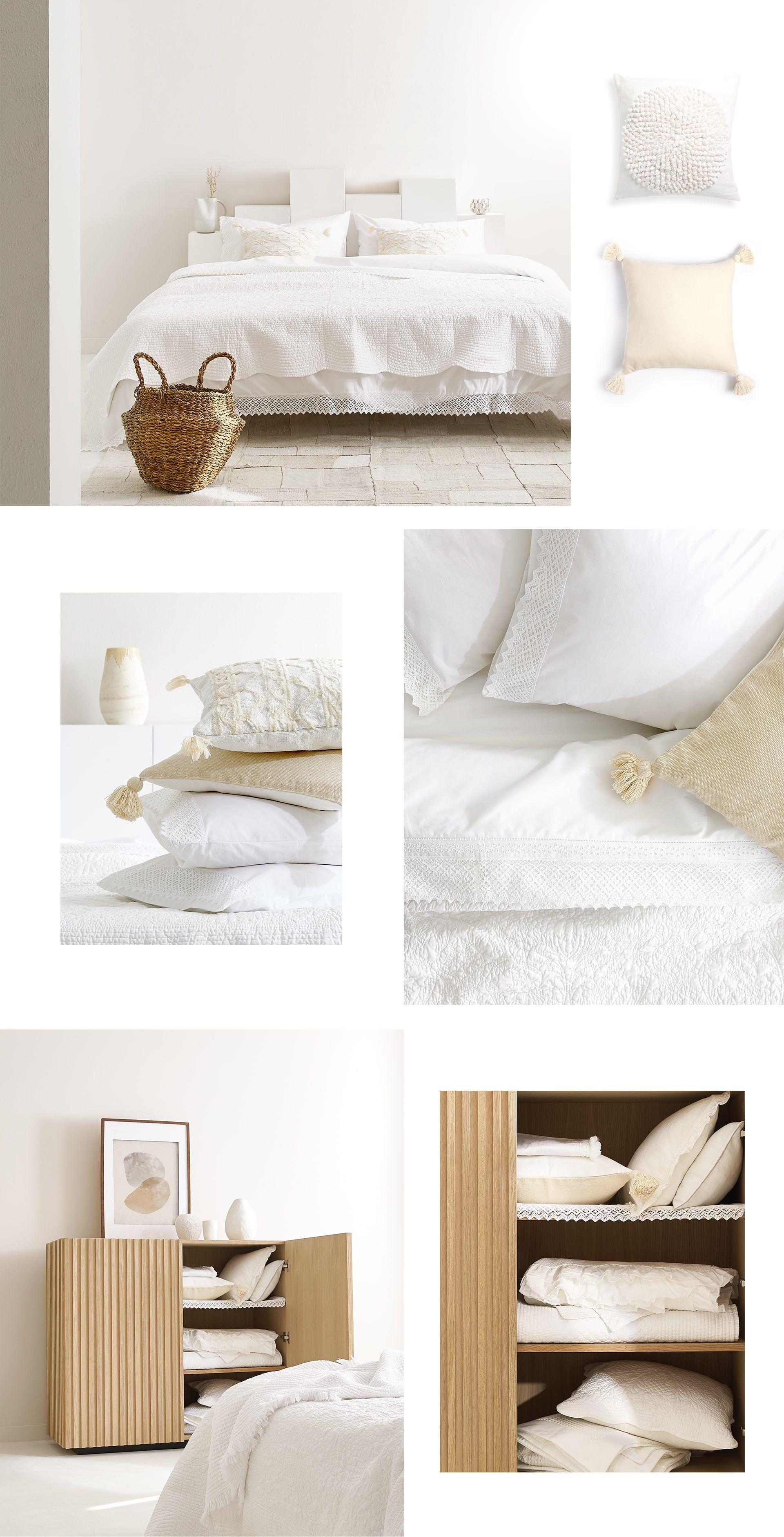 White Bedding Dormitorio Zara Home Espana White Bedding