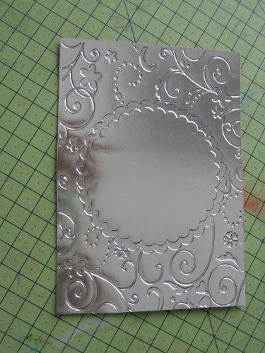 Du papier alu de cuisine un morceau de papier encoler le papier le poser sur la papier alu - Couper papier peint sans dechirer ...