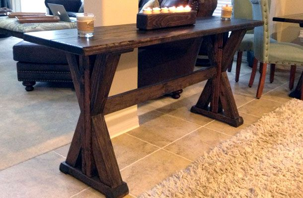 "Click on an image below to enlarge. 68″ x 18.5″ We affectionately refer to The Aubrey table as ""The Corinth's little sister."" Featuring a similarly styled trestle base and a 2″ thick wood table top, it's the perfect companion to a Corinth table in your dining room or kitchen. It's also a great choice for…"