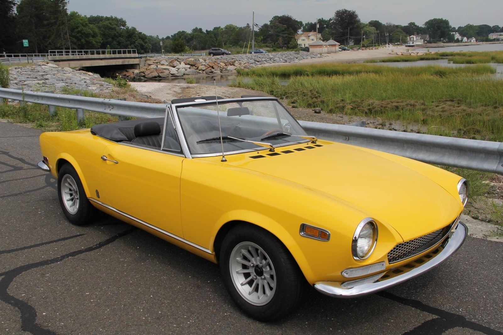stunning yellow 1970 fiat 124 spider | italian cars for sale