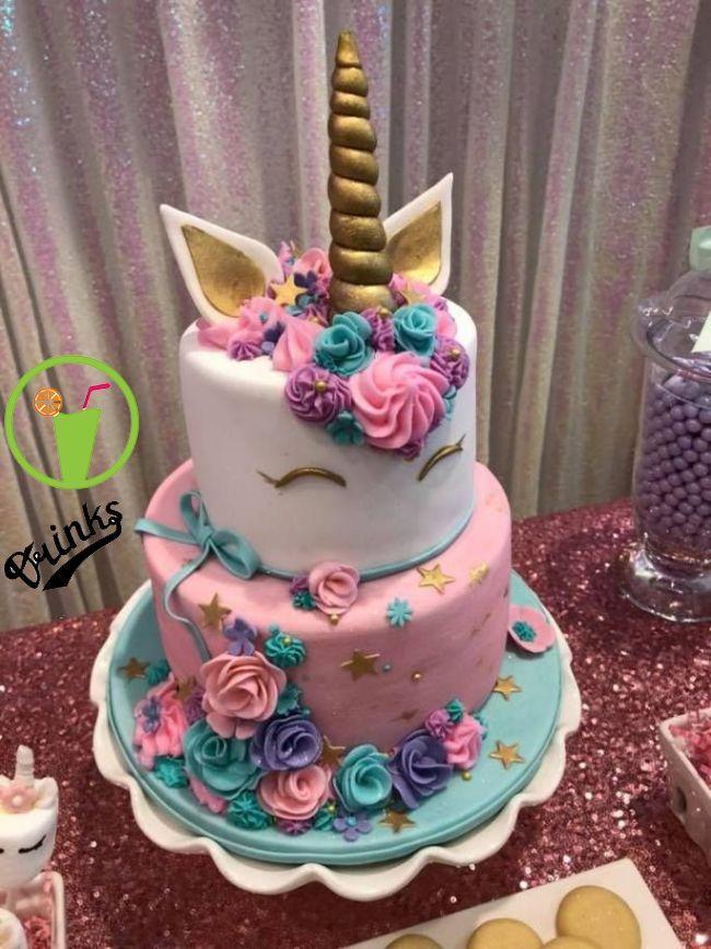 Remarkable Unicorn Party Cake Gold Unicorn Birthday Cake Unicorn Birthday Funny Birthday Cards Online Barepcheapnameinfo