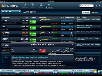 CNBC RealTime (iOS, FREE) is great for looking at real
