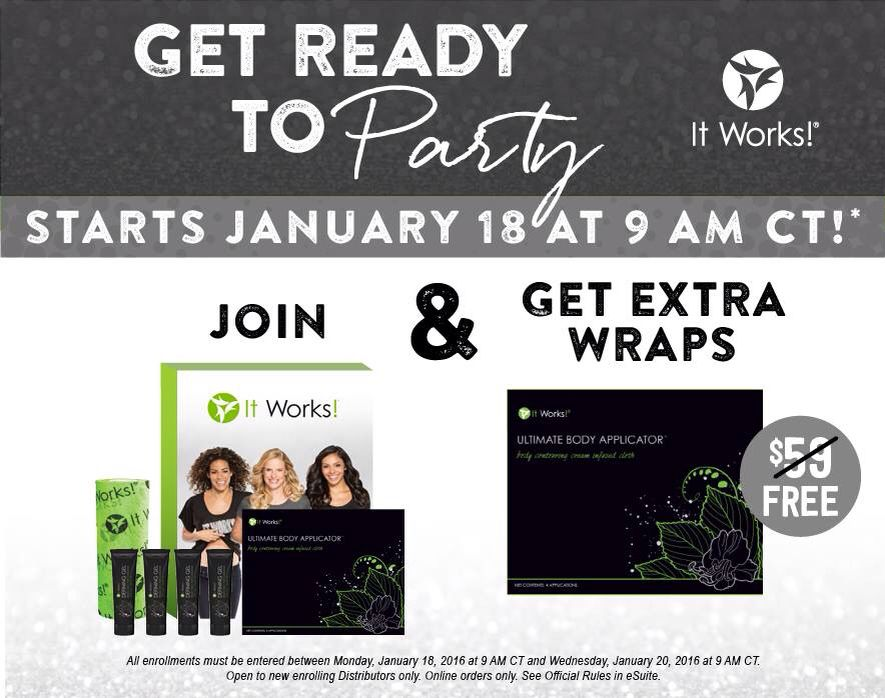 Don't miss this PERFECT TIME to join the party!  And...$500 Ruby Bonus is back for January!! http://katerdwraps.itworks.com/join