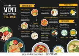 Image Result For Thai Take Away Menu Design Thai Food Restaurant Food Menu Thai Recipes