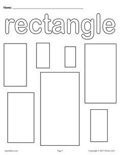FREE Toddler Amp Preschool Shapes Coloring Pages Includes A Rectangle Page Plus 11
