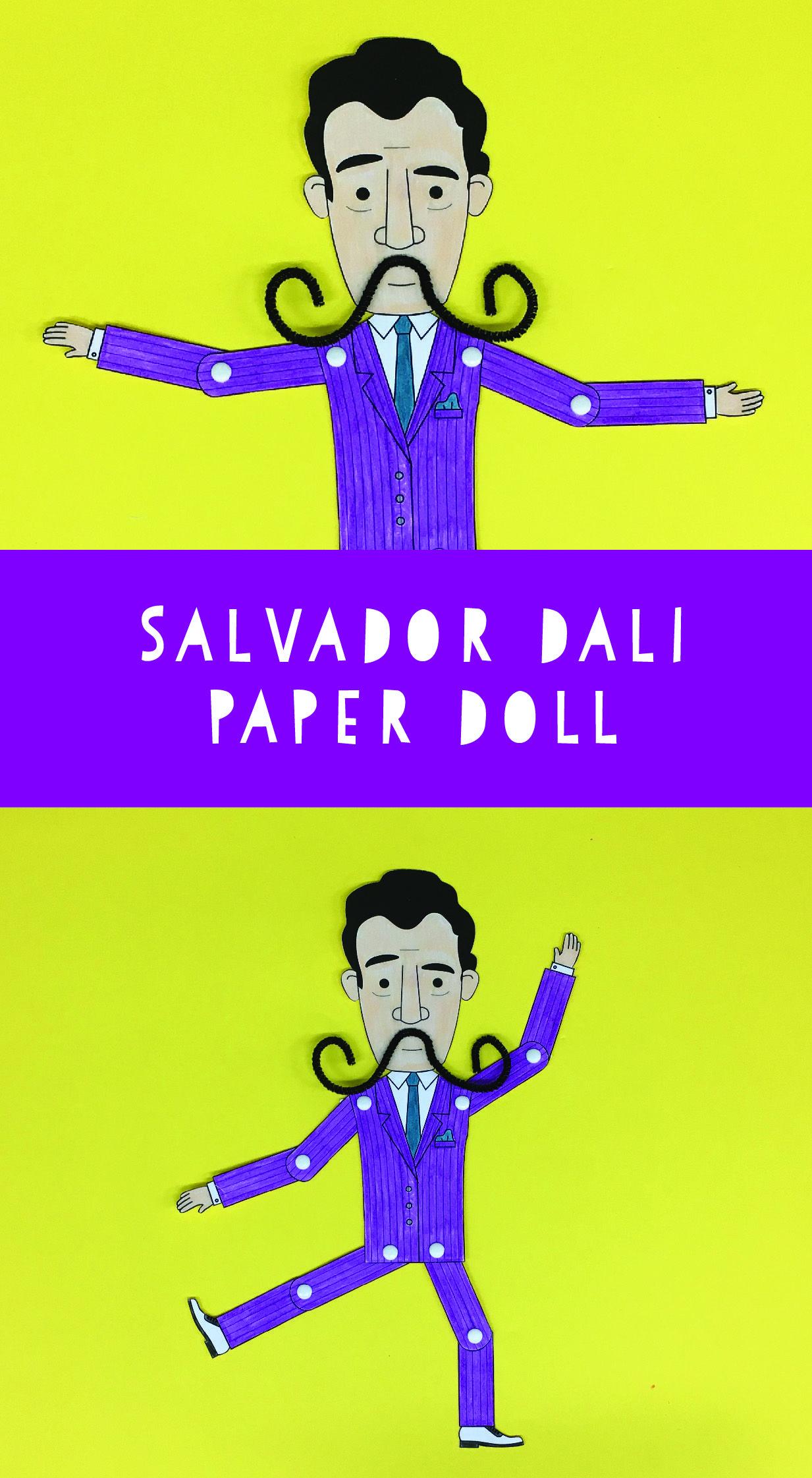 Dali For Kids Salvador Dali Printable Paper Doll A Fun