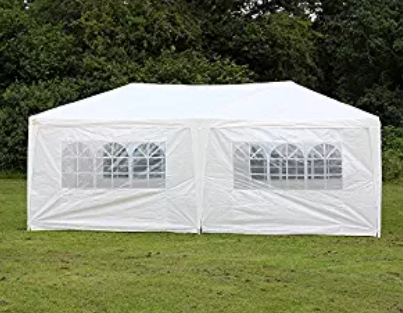 Palm Springs 10 X 20 White Party Tent Gazebo Canopy with Sidewalls & Palm Springs 10 X 20 White Party Tent Gazebo Canopy with Sidewalls ...