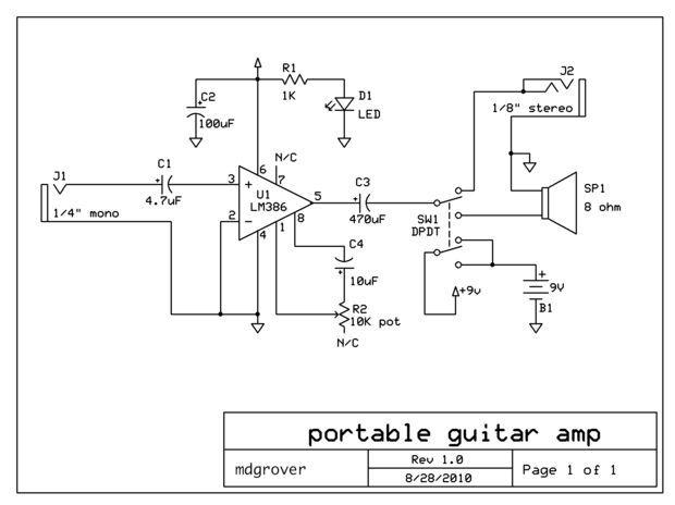 make a sweet portable guitar amp electronics pinterest amp rh pinterest co uk