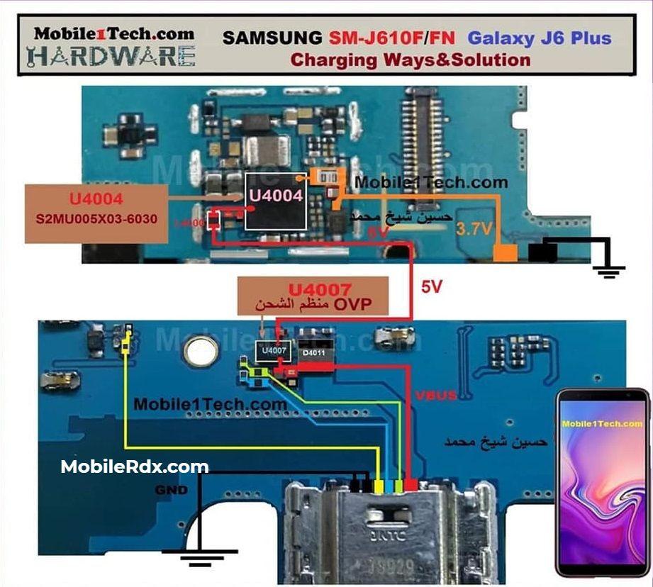 Samsung Galaxy J6 Plus J610f Charging Ways Usb Jumper