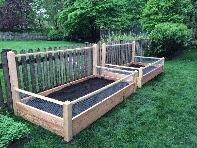 2 Raised Garden Beds A Long Side Trellis With Soil Delivered Made From Pine Treated Pine Or Solid Raised Garden Bed Plans Garden Beds Raised Garden Bed Kits