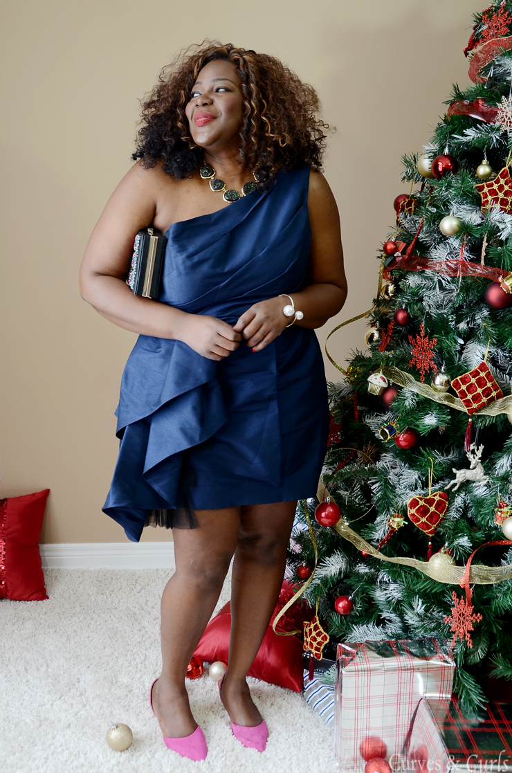 Holiday Glam With Rent The Runway Look 1 Woman Curves And Holidays