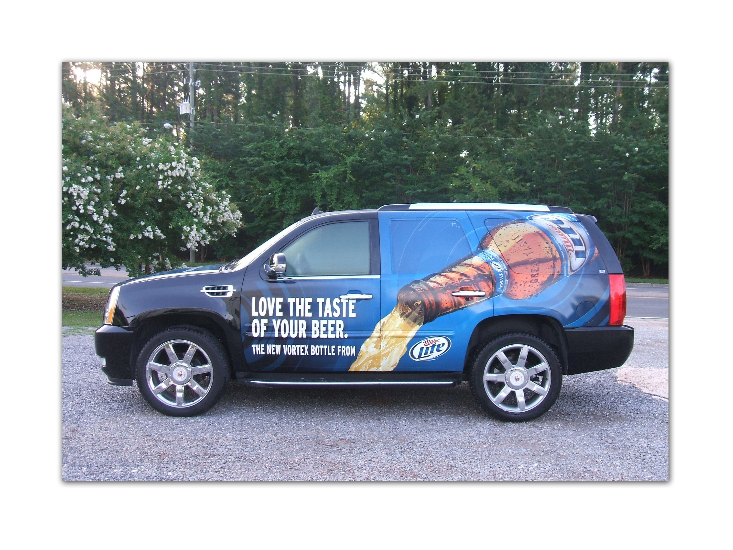 Partial vehicle wrap miller lite