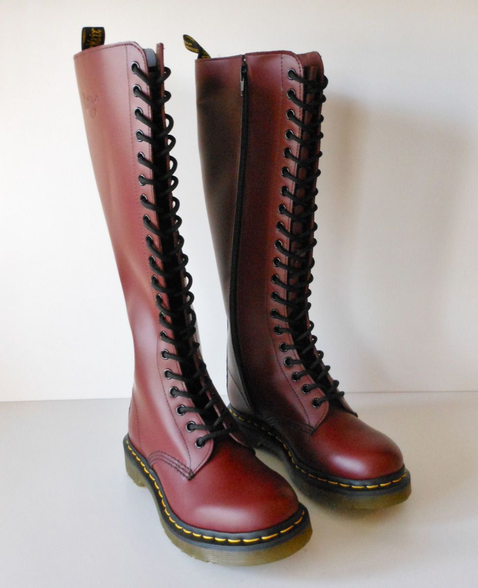 Dr Martens Oxblood 20 Eye Knee High Boots UK 4 US 6 New Style IB60 ... 0cbce3a57ba