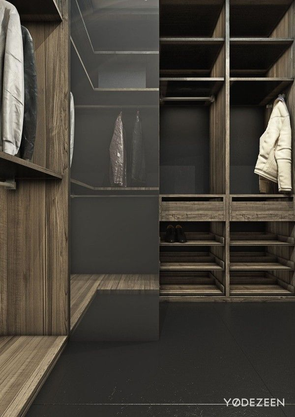 A dark and calming bachelor pad with natural wood and concrete interior design ideas concrete concrete interiors and dark