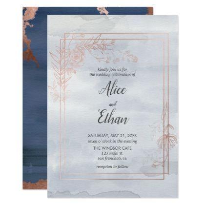 Floral geometric blue bohemian wedding card wedding invitations floral geometric blue bohemian wedding card wedding invitations cards custom invitation card design marriage stopboris Image collections